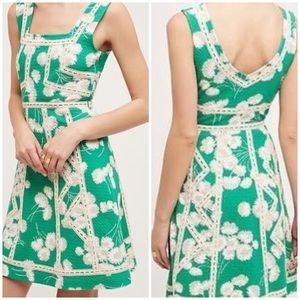 NWT Maeve Anthropologie Emma Green Dress 10